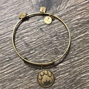 Alex and Ani paw print bracelet